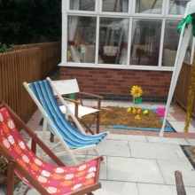 Sea side deck chairs